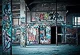 Fondos de fotografía Oscuro almacén Graffiti habitación Interior Fondo fotográfico para Estudio fotográfico A9 3x3m