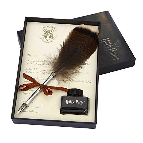 Juego de pluma de pluma antigua con juego de tinta para caligrafía y