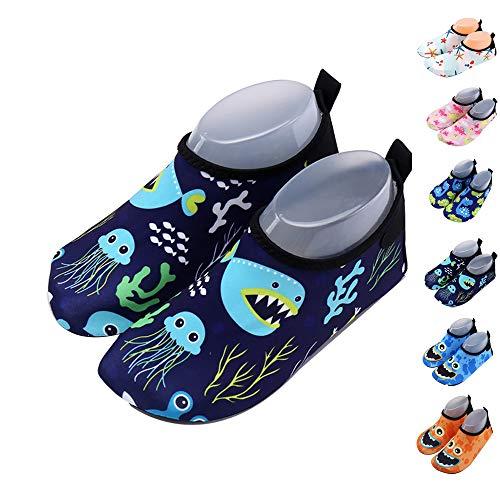 Xueliee - Zapatos de Agua para niños y niñas, Jellyfish Shark 24-25