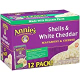 Annie's Homegrown Macaroni and Cheese, Shells and White Cheddar, 72 Ounce