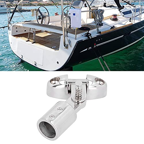 Qiilu Eye End Cap, bisagra de cubierta con 0.9in Bimini Top Fitting Eye End Cap Hardware para yates, barcos de pesca, toldo