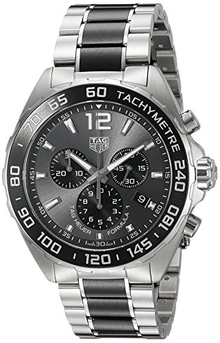 TAG Heuer Men's 'Formula 1' Swiss Quartz Stainless Steel Dress Watch, Color:Silver-Toned (Model: CAZ1011.BA0843)