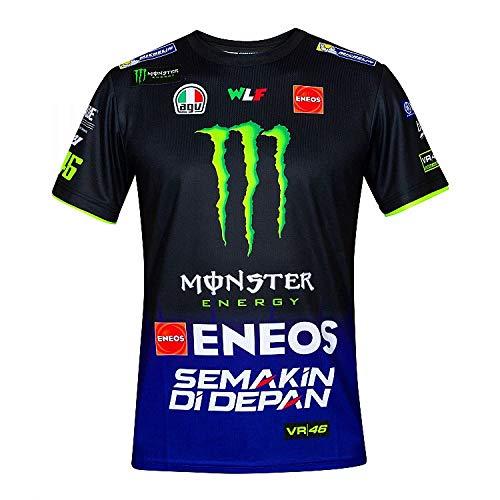 Valentino Rossi Herren Replica- Yamaha Dual - Racing T-Shirt, Königsblau, XS