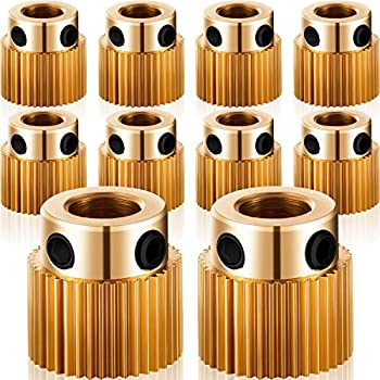 Extruder Wheel 3D Printer Parts Drive 40 Teeth Gear Brass Extruder Wheel Gear Compatible with CR-10 CR-10S S4 S5 Ender 3 Ender 3 Pro  10