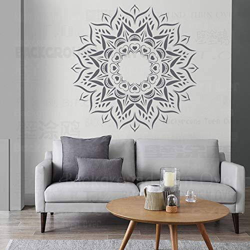 150cm Mandala Indian Arabic Ethnic Schablonen Mandala Schablonenfarbe Große Bodenbelag Vorlage Wiederverwendbare Fliesen Nische Wandmöbel Vorlagen Zu Mustern Für Dekorationsrahmen Wände Große Muster