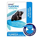 Lintbells | YuDERM Itching Dog Formally YuMEGA | Itchy or Sensitive Skin Supplement for Dogs Prone to Scratching, All Ages and Breeds | 500 ml Bottle