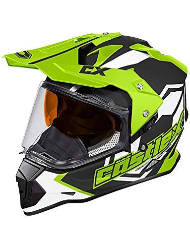 Castle X Mode Dual-Sport SV Team Snowmobile Helmet (LRG, Hi-Vis)