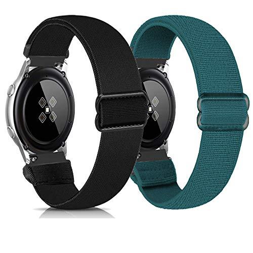 Zoholl muñequeras elásticas de Repuesto,compatibles con Samsung Galaxy Watch 3 41mm/Galaxy 42mm/Active 40mm/Huawei 2/Gear S2 Classic/Sport/Ticwatch 2 Hombres Mujeres