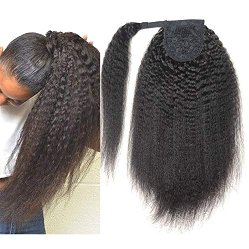 Mujeres Ponytail Kinky Straight Extensiones 18inch Dibujar Cuerda Pony Cola 140g Yaki Straight Hair Ponytail Long Kinky Straight Drawstring Cabello