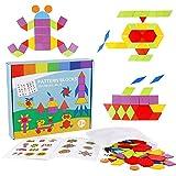 Puzzle de Madera Formas Geometricas 180 Piezas con bolsa almacenamiento Rompecabezas Tangram Juguetes Montessori Formacolor Juegos Educativos Juguete de Aprendizaje Regalos para Niños Niñas 3 4 5 Años