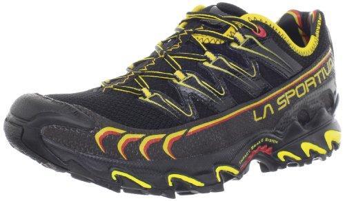 La Sportiva Men's Ultra Raptor Trail Running Shoe,Black/Yellow,45.5 EU/12 M US