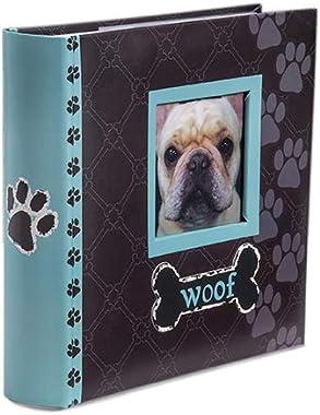 Malden International Designs Woof Photo Album, 80-4x6, Blue
