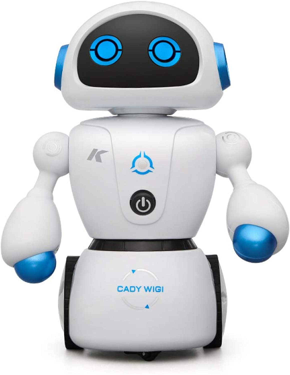 ZDY Robot Toy For Kids Intelligent RC Toy,With Remote Control Programmable Dancing Walking Rechargeable Music Lights Singing Talks LED Flashing Eyesorange bluee,bluee