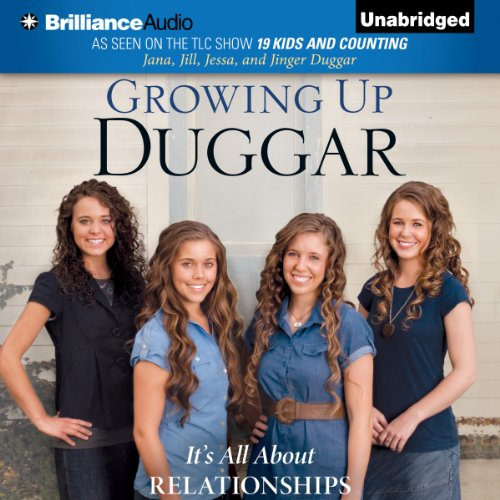 Growing Up Duggar     It's All About Relationships              By:                                                                                                                                 Jana Duggar,                                                                                        Jill Duggar,                                                                                        Jessa Duggar,                   and others                          Narrated by:                                                                                                                                 Jana Duggar,                                                                                        Jill Duggar,                                                                                        Jessa Duggar,                   and others                 Length: 6 hrs and 41 mins     288 ratings     Overall 4.3