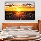 NIMCG Print Art Mural Landscape Poster Canvas Art Sunset Wall Picture para la Sala Cuadros Decoración del hogar (sin Marco) 30x45CM