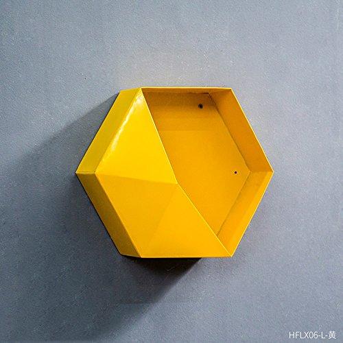 Étagère décorative scandinave créative (Couleur : Le jaune, taille : 30 * 13 * 30cm)