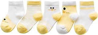Black Temptation, 5 pares unisex del bebé Calcetines, 1-3 años de edad del bebé del algodón Calcetines [E]