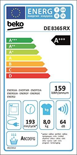 Beko DE8635RX Wärmepumpentrockner/A+++ (-10%)/84,6 cm Höhe/159 kWh/Jahr/weiß - 5