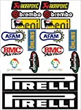 Kit de pegatinas, patrocinador técnico, para moto, 18 unidades - SBK, Honda, Yamaha, Ducati, Suzuki, BMW, Aprilia