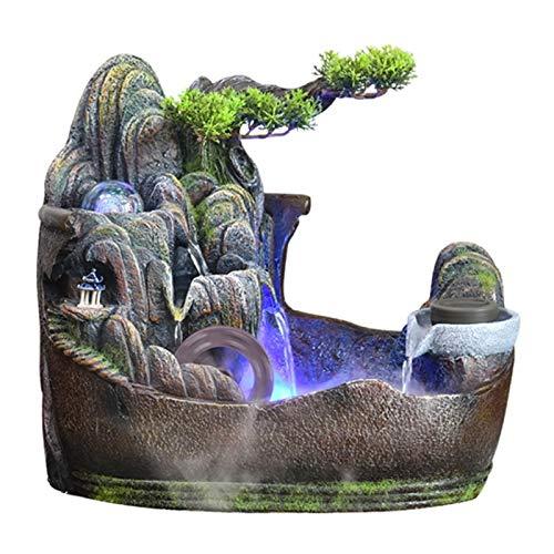 Fuente interior Alpine fluye Oficina del paisaje de agua del jardín de...