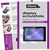 dipos I 2X Schutzfolie klar kompatibel mit Sony Xperia Tablet Z2 Folie Bildschirmschutzfolie