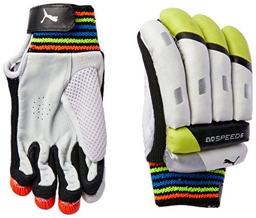 Puma EvoSpeed 6 Junior Kinder-Cricket-Schläger-Handschuh, weiß/schwarz, rechte Hand