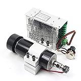 RATTMMOTOR Kit de motor de husillo de refrigeración por aire de 500 W ER11 mini motor de husillo y controlador de velocidad PWM de 220 V y soporte de montaje de 52 mm con tornillos para grabar