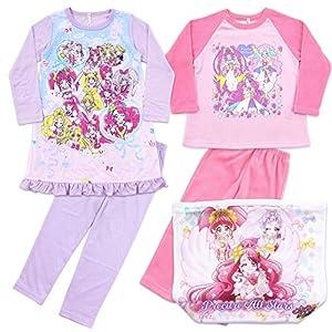 プリキュアオールスターズ パジャマ あったかおやすみセット A 福袋 洗濯ネット付き[2550336] 120cm ピンク
