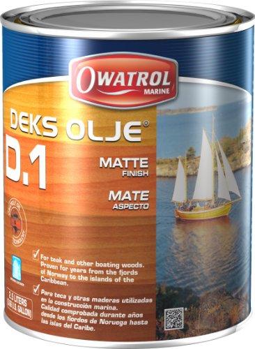 Owatrol Deks Olje D1, Wood Oil, Decking Oil, Matte Finish, 2.5 Liter