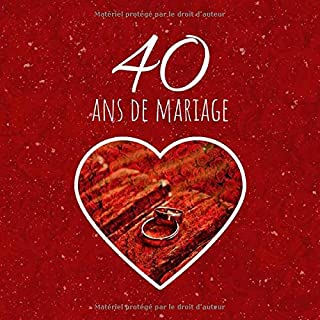 Amazonfr Noces De Mariage 40 Ans