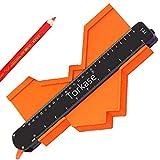 Torkase 25cm Konturenlehre mit Feststeller, Konturmessgerät Duplikator Werkzeug mit Verriegelung, Messgerät und Duplikationswerkzeug für Ecken, Holzbearbeitungsschablonen, groß