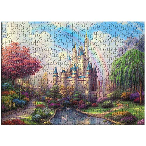 Jigsaw Puzzle Home Toys, Jagsaw Puzzle -Rainbow Castle-1000 Piece 27.56 by 19.69 for Adults Kids Gift,Difficult Family Funny Puzzle Games