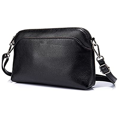 Lecxci Small Womens Lady's Soft Leather Crossbody Travel Smartphone Bag Wristlets Clutch Wallet Purse