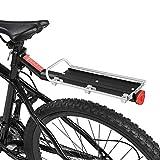 Bike Rack, Aluminum Alloy Bicycle Luggage Carrier Cargo Rear Racks Bike Touring Carrier