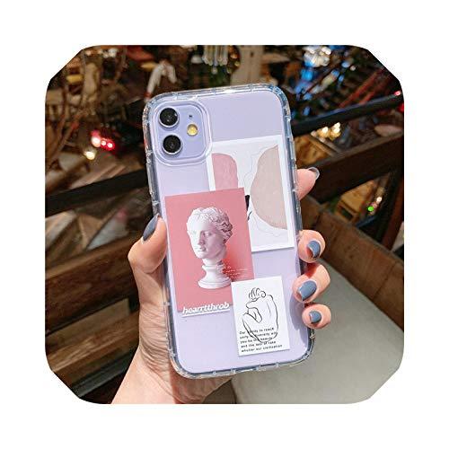 Funda de teléfono transparente para iPhone 11 Pro Max X XS XR 7 8 Plus SE 2020 cubierta de silicona suave de lujo a prueba de golpes