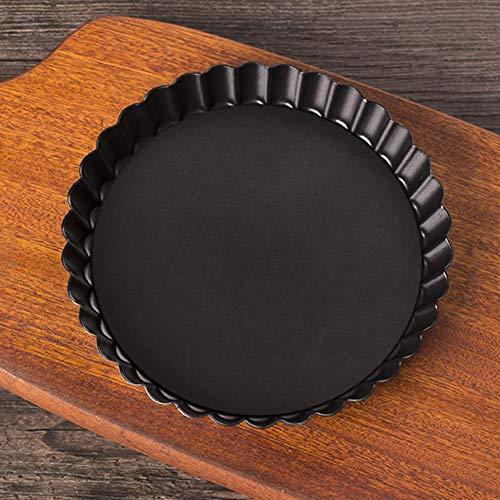 Kuchenform mit Antihaftbeschichtung, rund, geriffelt, mit losem Boden, für Pizza, Kuchen, Backen 20 cm Wie abgebildet