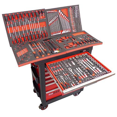 Werkstattwagen gefüllt mit Werkzeug Werkzeugwagen Werkzeugkiste Werkzeugkasten