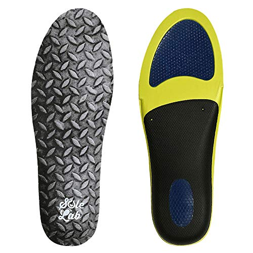 Insole for Work Boots. Extra Cushion Insole with Flexible Support and Adaptive Arch and Gel Insert. for Men and Women