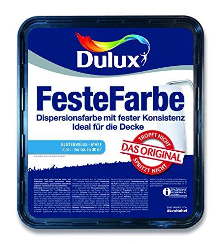 Dulux Feste Farbe Wand- und Deckenfarbe, Blütenweiß Matt