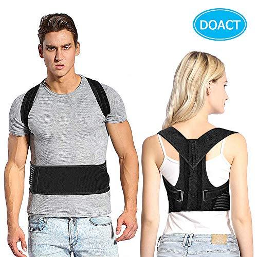 Doact Corrector de Postura Brace Clavícula Apoyo de Espalda Superior de la...