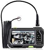 Cámara de inspección con Lente Dual de 5,5 mm endoscopio Industrial Boroscope 6 Luces LED 16 GB Card IP67 Cámara de inspección Impermeable ZSMFCD