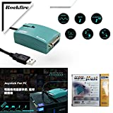 Gimax NEW USB to 15 Pin Female MIDI Joystick Game Port Adapter Nest Converter Rockfire 15-P RM-203 GAMEPORT 98/ME/2000/XPFD047