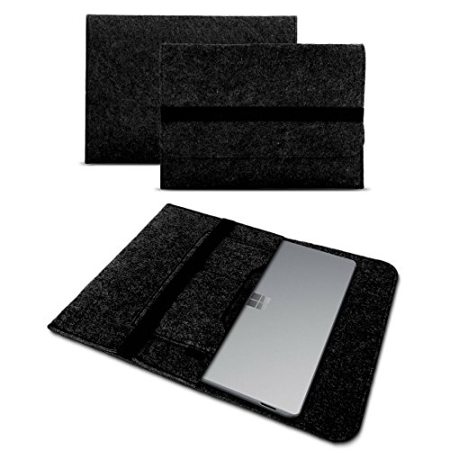 UC-Express Tablet Tasche kompatibel für Microsoft Surface Go/Go 2 10 Hülle Filz Hülle Schutz Cover Schutzhülle, Farbe:Dunkel Grau