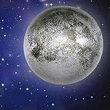 ZHURGN Lampada da Parete lunare, 10'Lampada da Luce LED Lampada da Luna, con Telecomando e 12 Fasi lunari, Bagliore nell'illuminazione Scuro apparecchio per Bambini Amico Amante Regalo di Compleanno