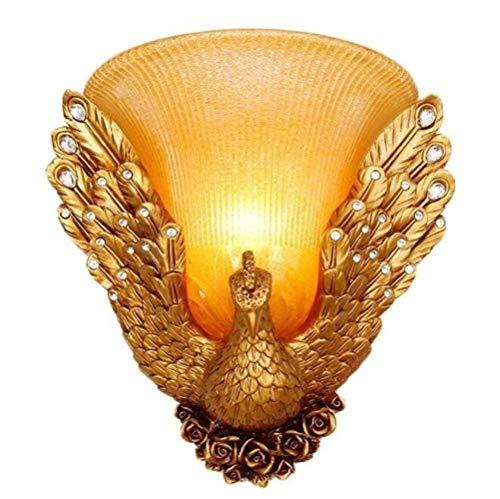 BALLYE Lámpara de Pared Retro Europea Estilo lámpara de Mesa de Noche lámpara de Pared de Resina vestíbulo luz Decorativa Escalera de Hotel, 1, A