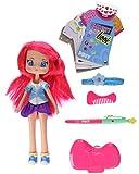 Piny Fashion Doll PINY - Muñeca Michelle con libro de diseño (Famosa 700014142)