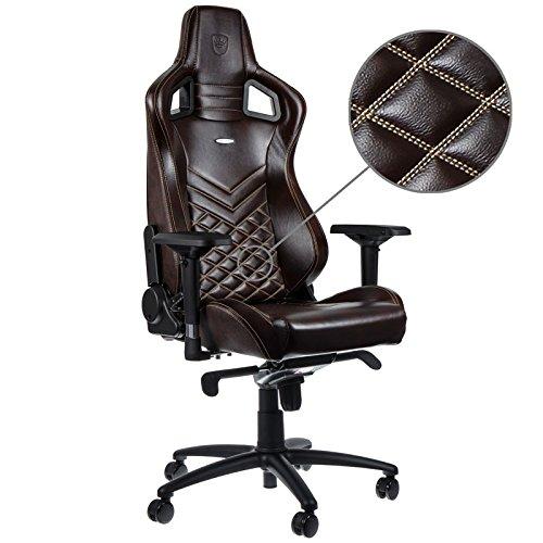 noblechairs EPIC Echtleder Gaming Stuhl - braun/beige