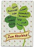 Kulinu 64749 - XXL A4 Abschiedskarte Kollegen - Edle Abschiedsgeschenk Karte - Lustiges Geschenk...