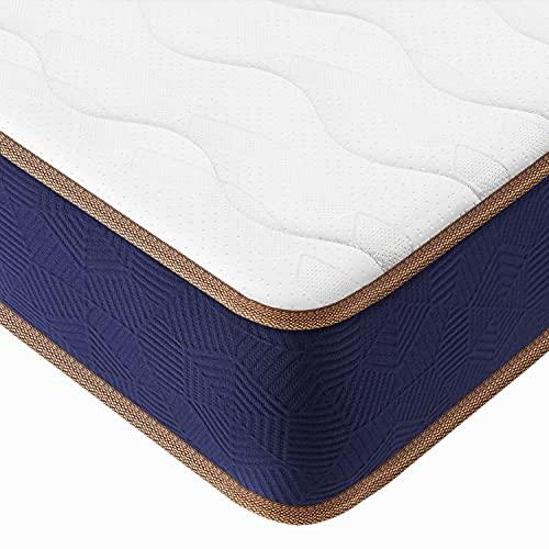 BedStory Memory Foam Pocket Sprung Mattress, 9 Inch Height 3ft Spring Single Mattress with 3D...