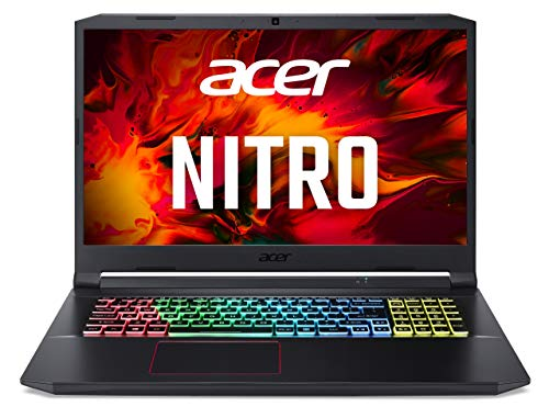 Acer Nitro 5 (AN517-52-71C7) Gaming Laptop 17 Zoll Windows 10 Home - FHD 120 Hz IPS Display, Intel Core i7-10750H, 16 GB DDR4 RAM, 512 GB M.2 PCIe SSD, NVIDIA GeForce RTX 3060 - 6 GB GDDR6
